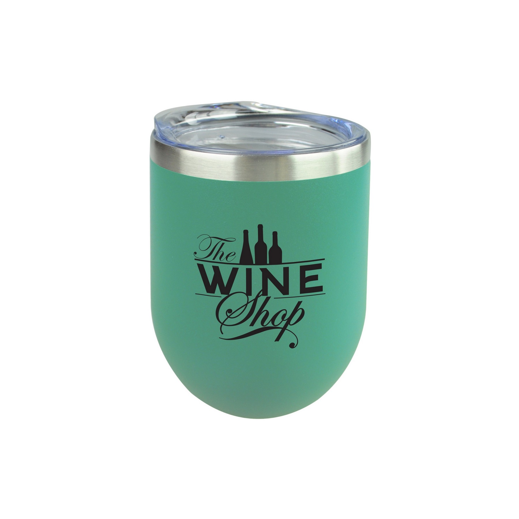 Stemless Wine Tumbler with Lid Pour Some Sugar On Me White 12 oz