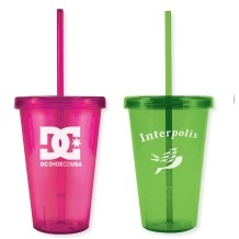 16 Oz. Freedom One Tumbler w/ Straw