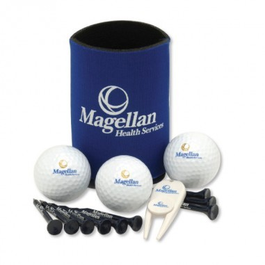 Collapsible Kan Cooler Event Pack w/ Authoritee™ Golf Ball