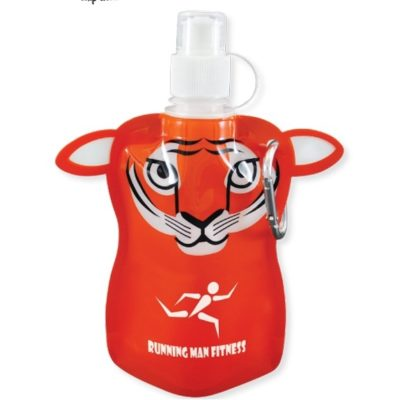 12 Oz. Paws N Claws Flat Bottle