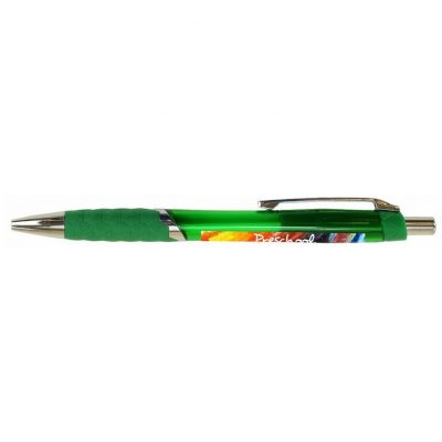 Translucent Hex Pen w/Metal Clip